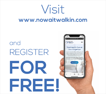 No Wait Walk-in - Register for free!